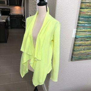 🆕💛💚 Neon yellow cardigan blazer